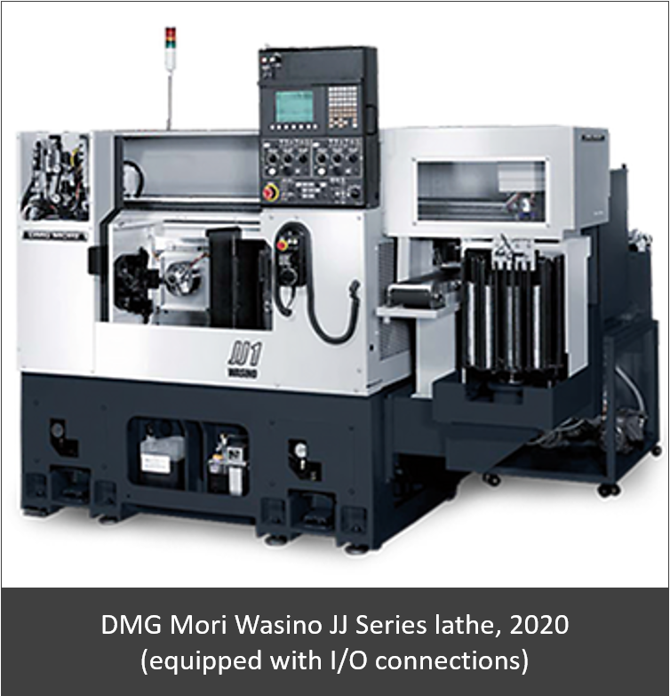 DMG Mori Wasino JJ Series lathe, 2020 (equipped with I/O connections)